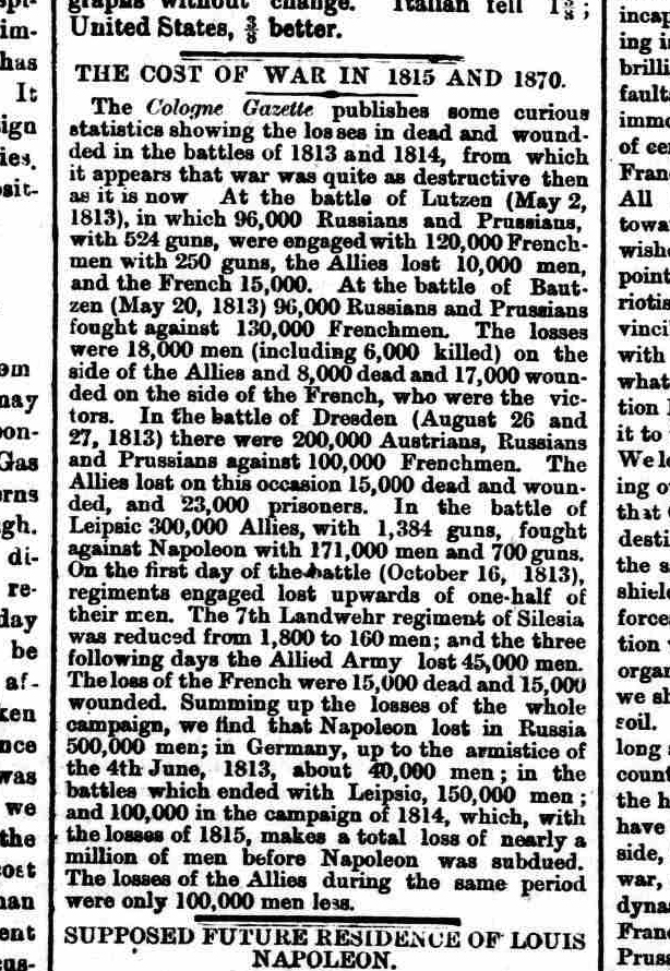 Shields Gazette  8 Sept 1870: Click to read