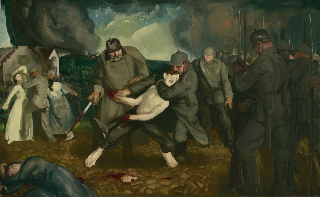 """The Germans Arrive"" George Bellows, 1918"