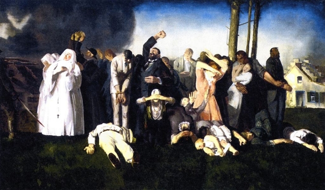 """Massacre at Dinant"", George Bellows, 1918"