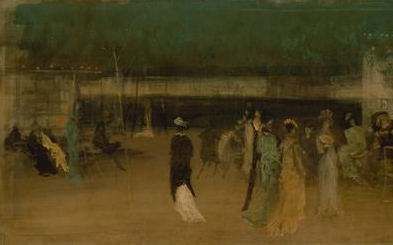 One of Whistler's modernist Cremorne paintings