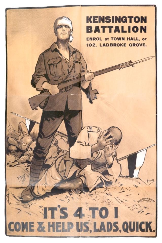 Kensington Battalion Poster  A3