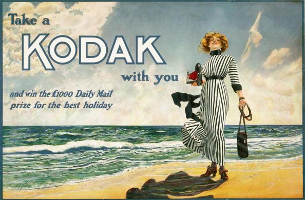 Take a Kodak with you, advertisement for Kodak cameras, British, c 1910.
