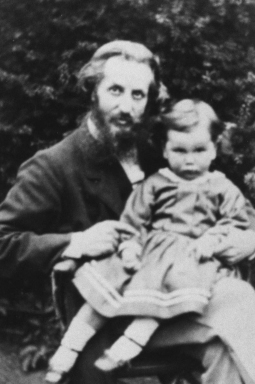 Furnivall in 1869 with his sour-faced son Percy, future world cycling champion and renowned surgeon